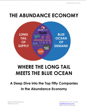 The Abundance Economy – Where the Long Tail Meets the Blue Ocean (Sept 2014)